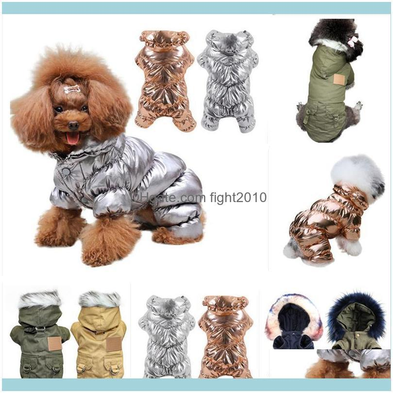 XS-2XL Soft Fur Hoodie Warm Cotton Dog Clothes For Small Dogs Windproof Pet Jacket Dog Coat Winter Clothing