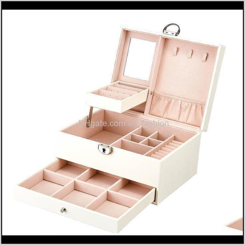 juelee multi-function storage box leather jewelly box multi-layer large-capacity jewelly organizer jewelry organizer porta jo sh190723