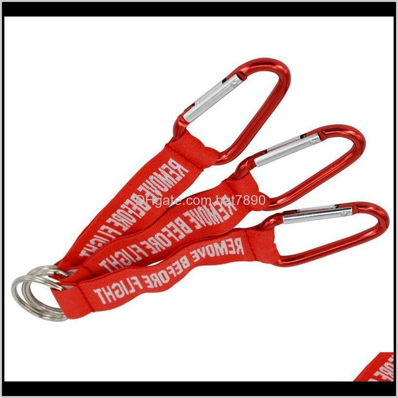 Kimter Embroidered Woven Letter Key Ring Fashion REMOVE BEFORE FLIGHT Keychain Red Keyfobs Holder Aviation Safety Tag Keyrings G294Q A