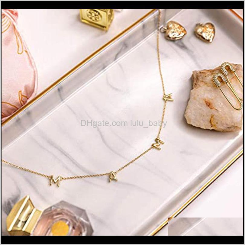 mama letter pendant necklace gold silver copper letter necklace mother`s day fashion jewelry gift for mom birthday gift