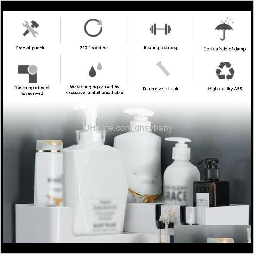shower caddy shelf bath rack storage holder organizer rotatable for bathroom corner s7 #51