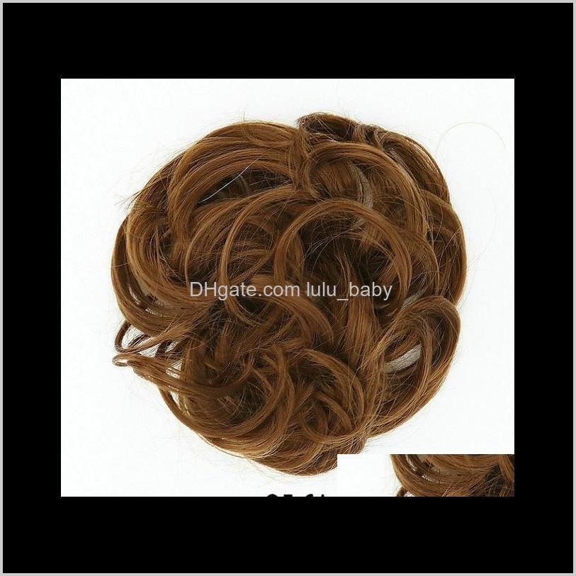 chignon hair bun hairpiece curly hair scrunchie extensions blonde brown black heat resistant synthetic for women hair pieces
