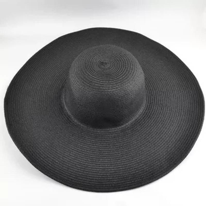 16 Colors Women Wide Brim Hat Floppy Large Sunhat Beach Straw Hats Sun Ladies Outdoor Foldable
