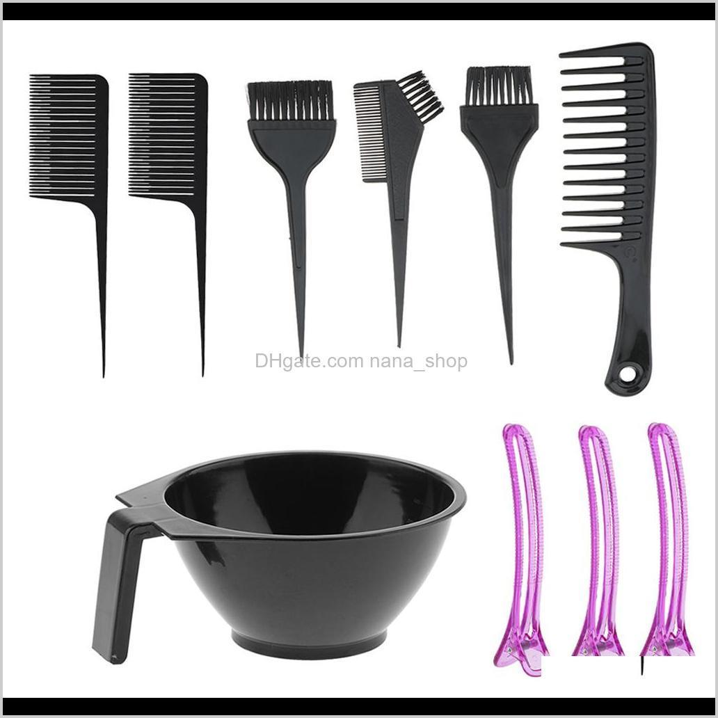 salon hair coloring dyeing tint tools mixing bowl brush set for hairdressing