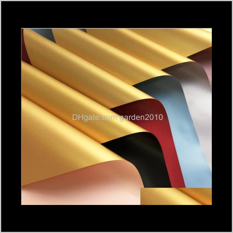 gold confetti gold bouquet wrapping paper double color thickened waterproof packaging paper packing & shipping business & industrial
