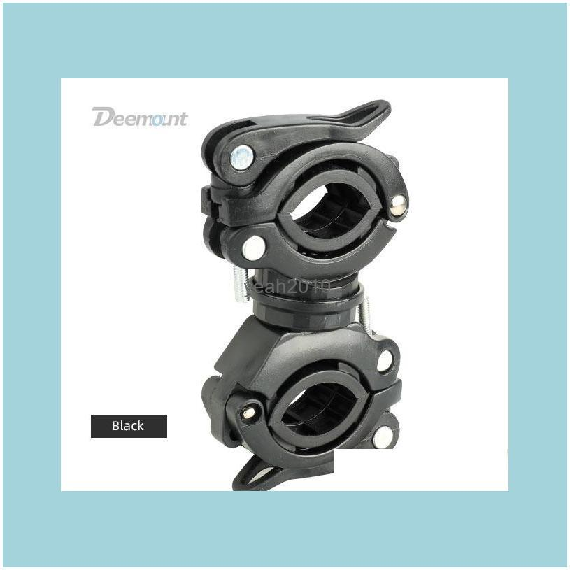Bike Lights Bicycle Light Bracket Lamp Holder LED Torch Headlight Pump Stand Quick Release Mount 360 Degree Rotatable HLD-211