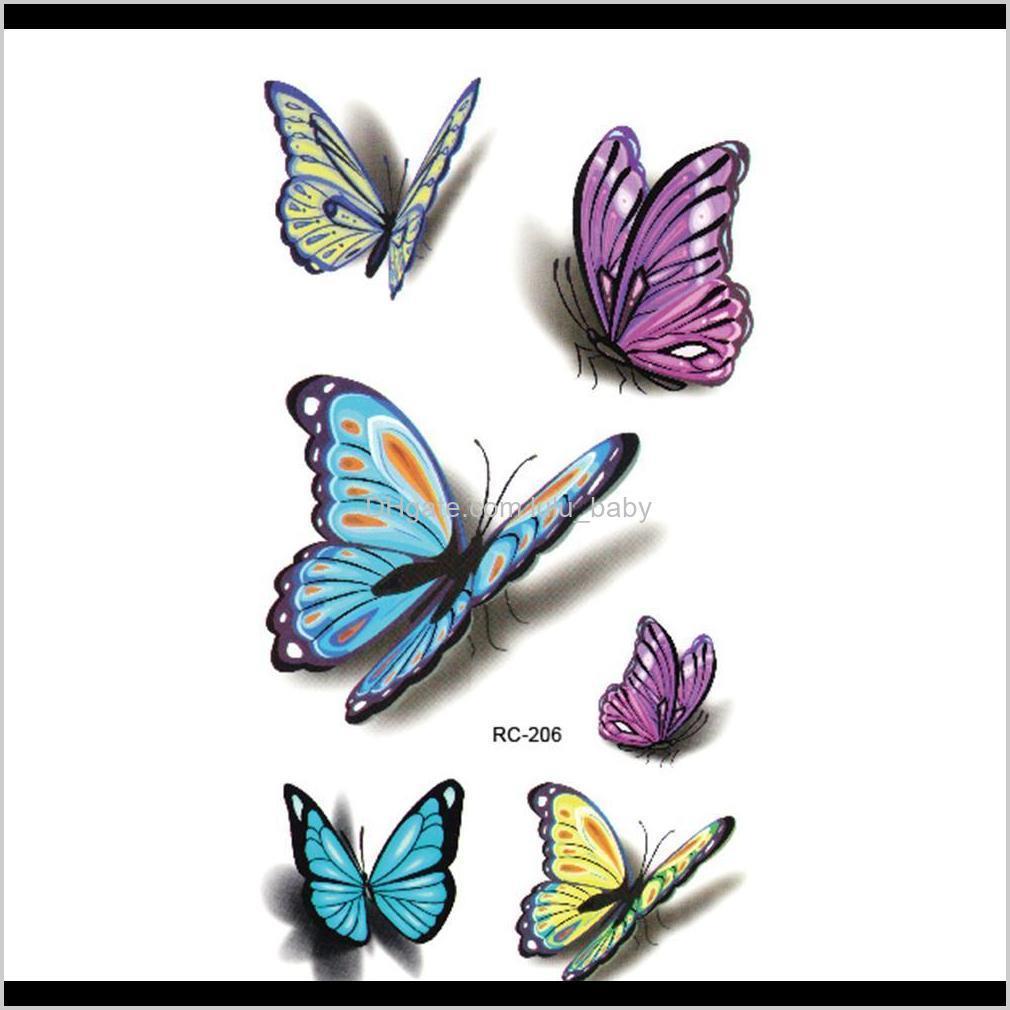 waterproof henna tatoo selfie fake body tattoo sticker colorful butterfly 3d temporary tattoo stickers art flash tattoo