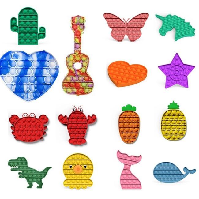 Prezzo più basso Push Bubble Sensory Sensory Fidget Toy Stress Stress Reliever Ansia Riferimento Giocattoli bambini Regali feste di compleanno