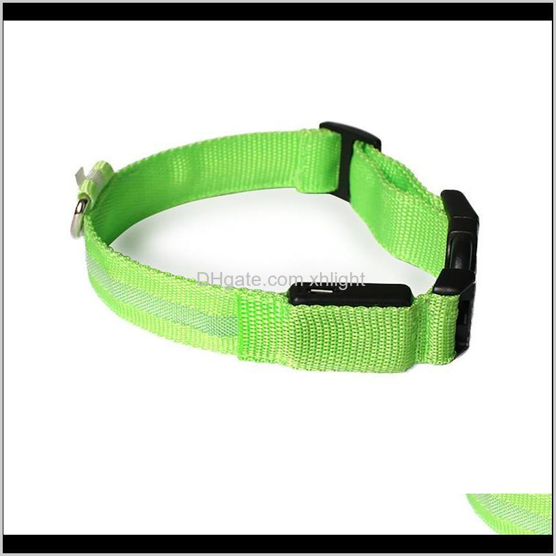 luminous usb collar rechargeable usb waterproof led flashing light band collar outdoor anti-lost night safety for dog walking