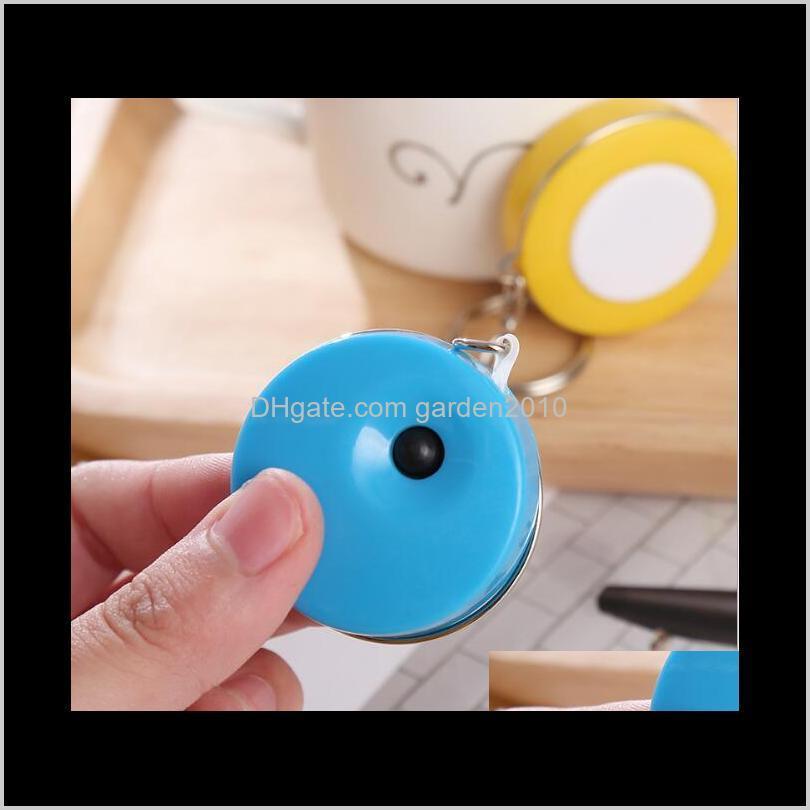1.5m candy colore mini key ring portable tape measures measure 3 surround measuring & gauging tools measurement analysis instruments