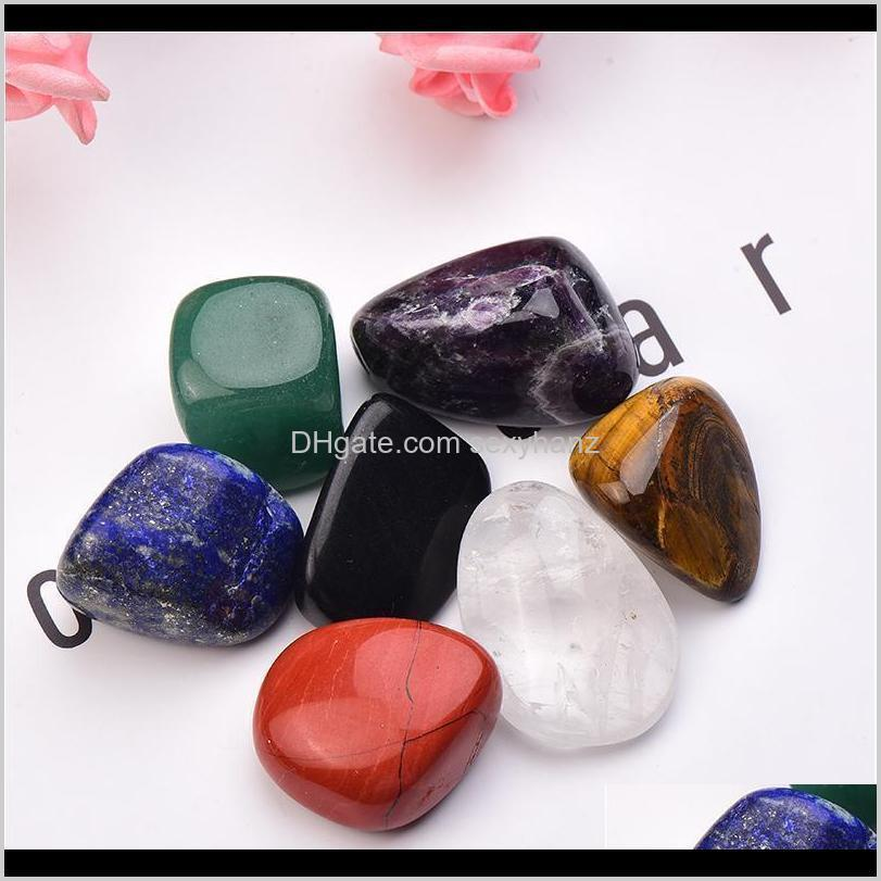 natural seven chakra stone 7colors set yoga chakra irregular reiki healing crystals stone polished individual stones com qylnpj