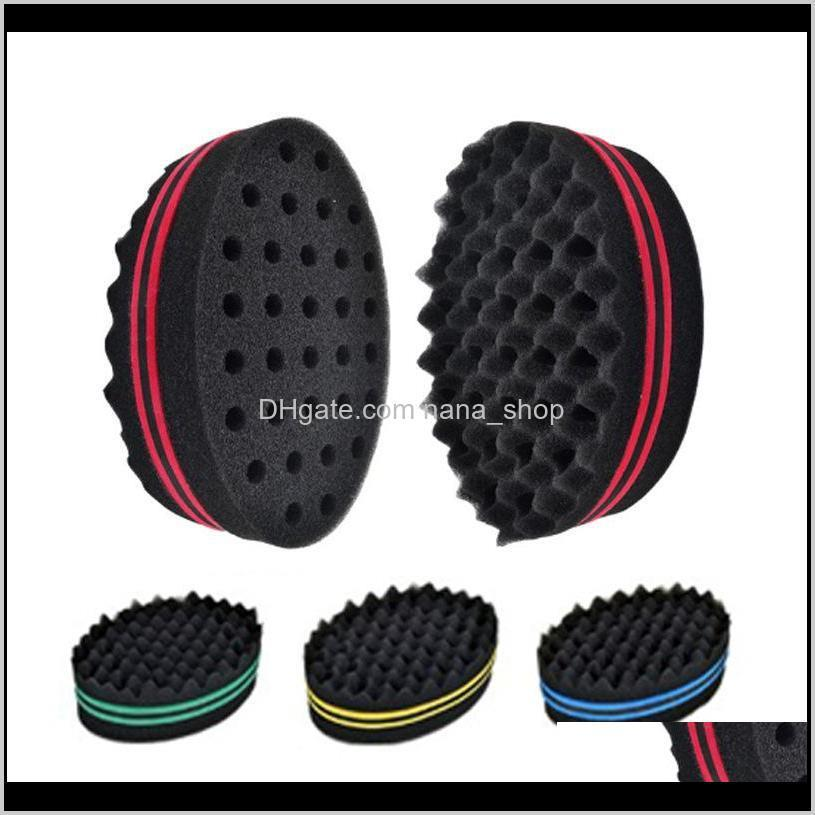 magic twist hair brush sponge afro curly weave oval double sided flat large hole wavy small hole dreads sponge brush