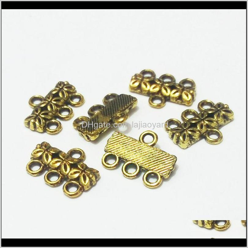 beauchamp vintage pendant bails necklace ends connector links metal charms bracelet beads spacer clasps jewelry findings wmtuds