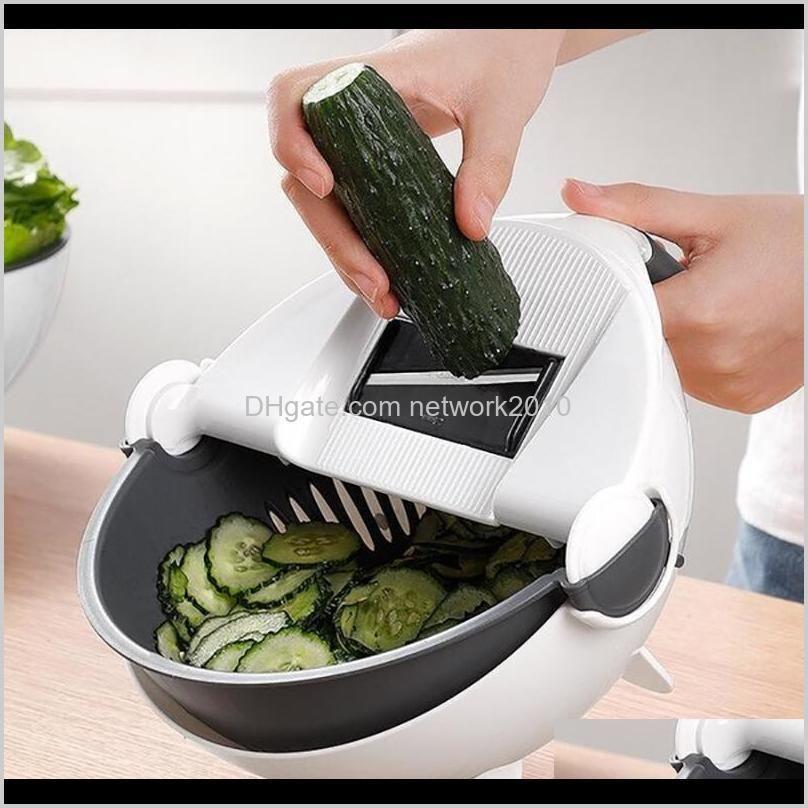 rotate vegetable cutter with drain basket manual slicer magic multifunctional veggie fruit shredder grater slicer mandoline choppers