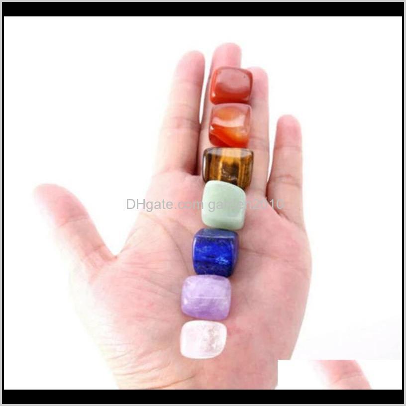 7pcs set beautiful chakra natural stones palm reiki healing crystals gemstones home decoration accessories good gifts eeb5634