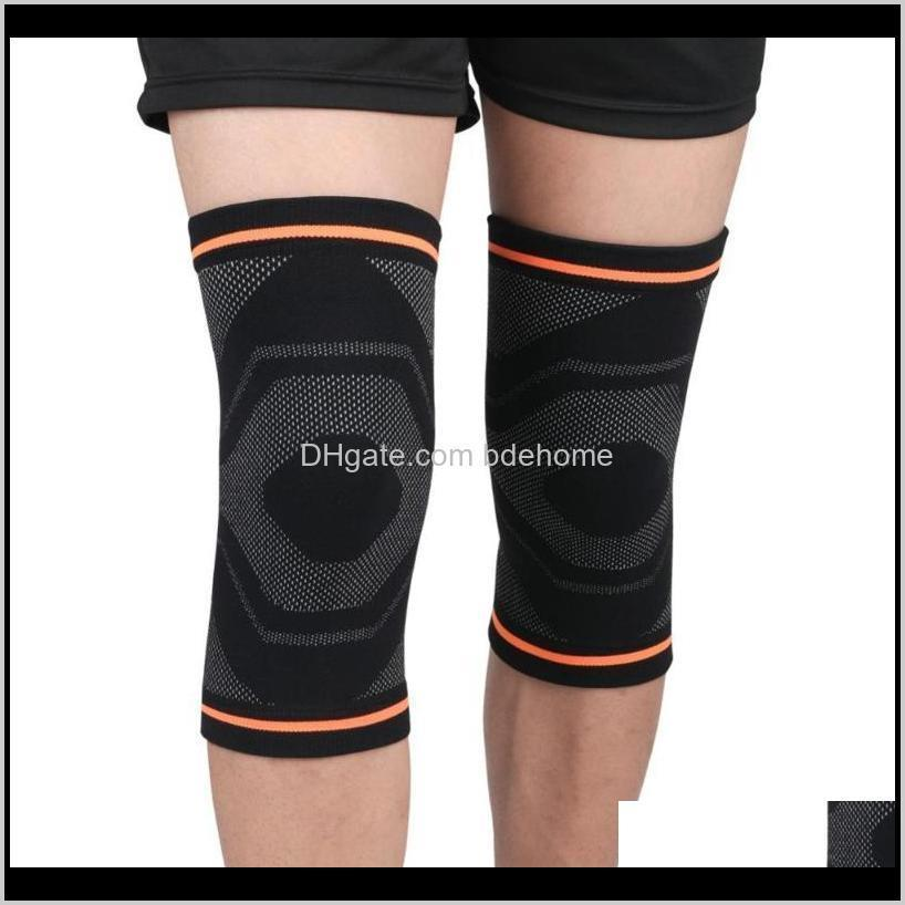 1pc knee pad sleeve thermal knitted compression leg knee support running jogging football bandage safety protector1
