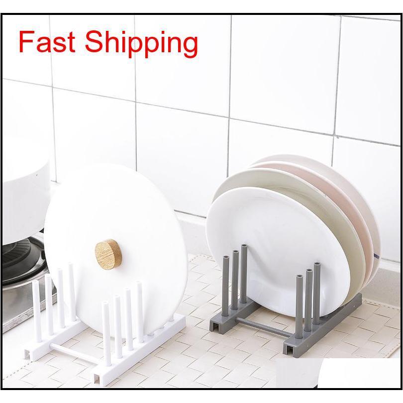 high quality kitchen supplies storage rack drain holder kitchen racks white plastic dish lid holder storage organizers
