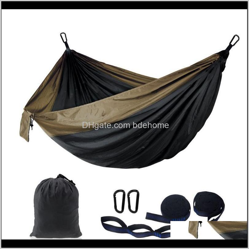 outdoor portable customize printing pattern travel 210t nylon camping hammock and tree straps