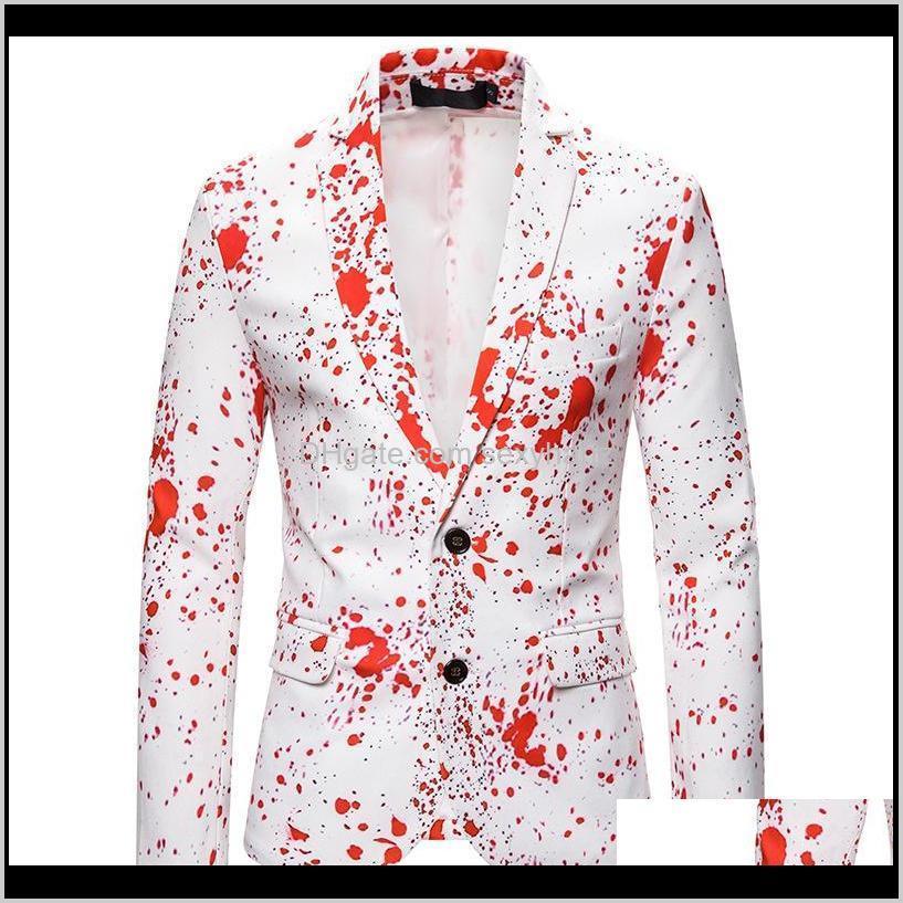 3d splash ink print blazer men 2020 autumn new christmas suit jacket men blazer party wedding prom stage