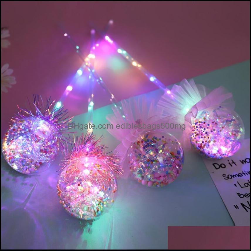 Princess Light-up Magic Ball Wand Glow Stick Witch Wizard LED Magic Wands Halloween Chrismas Party Rave Toy Great Gift DWB6206
