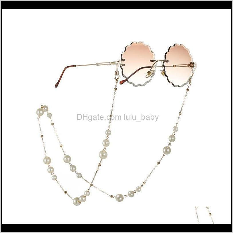 new arrival all-purpose eyeglasses chains with lobster clasp metal and artificial pearls beautiful face masks mouth mask chain