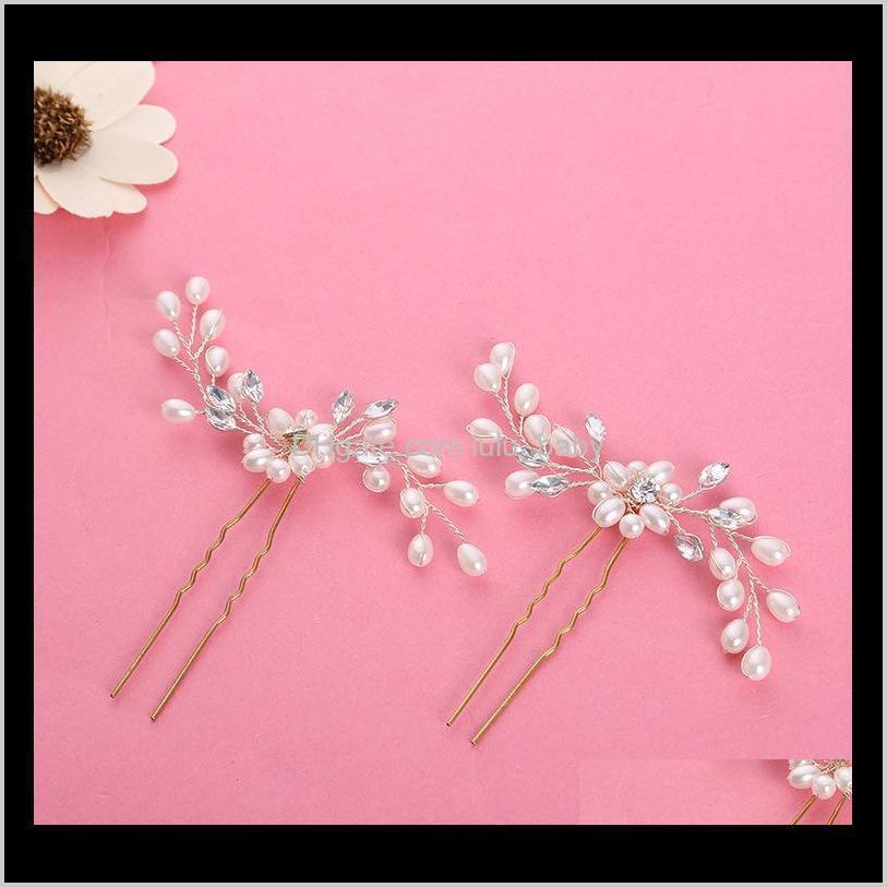 new style wedding hair accessories high quality crystal beaded women bride hairpin cheap bridal headwear accessoire mariage