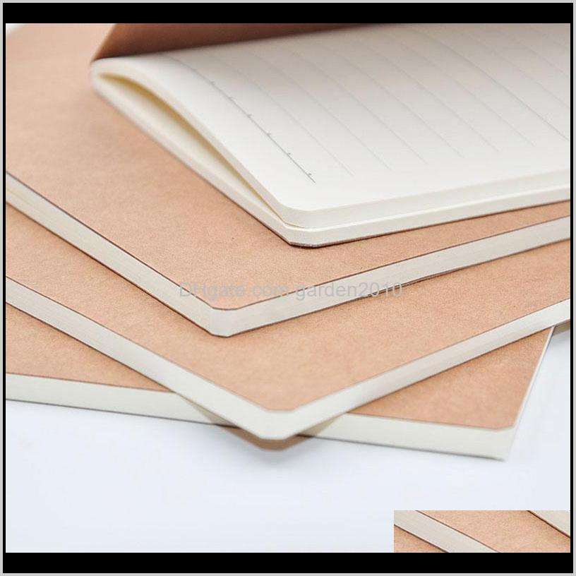 kraft cover journal notebooks cowhide paper notebook blank notepads book vintage soft copybook daily memos can be customized design