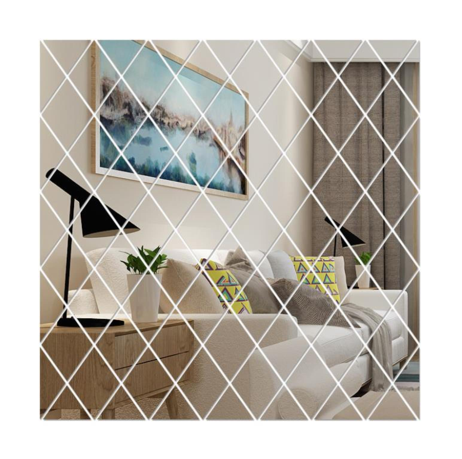 Diy 3d Mirror Wall Stickers Acrylic Art Room Bedroom Living Room Home Decor Decals Mural Painting Removable Mode bbytja