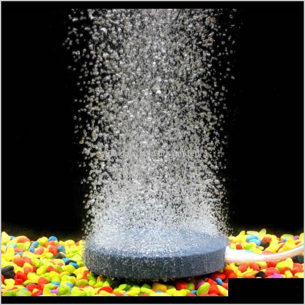 40mm air bubble stone aquarium bubble plate round bubble stone aerator for aquarium fish tank pump - grey