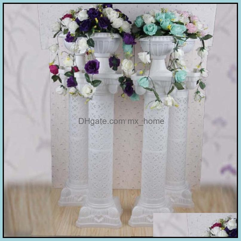 Plastic Rome Column Height 38 Inch[98 CM] Roman Road Lead FRP Columns For Wedding arrangement Party Promotion Mall Opened Props
