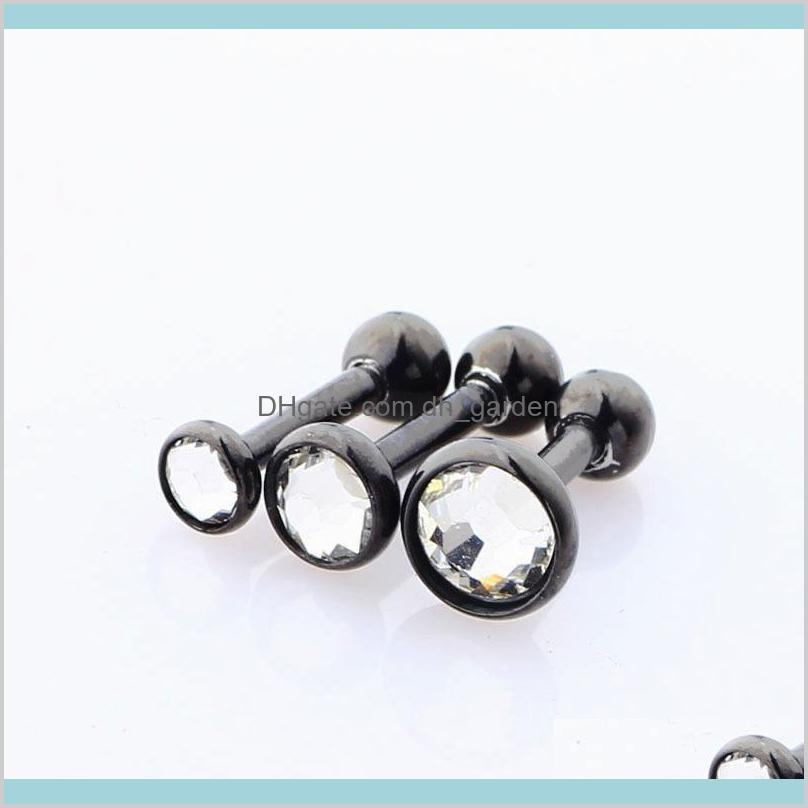 2018 high-quality hot new stainless steel ear bone nails with ball , earrings, stud piercing plugs tunnel jewelry wholesale