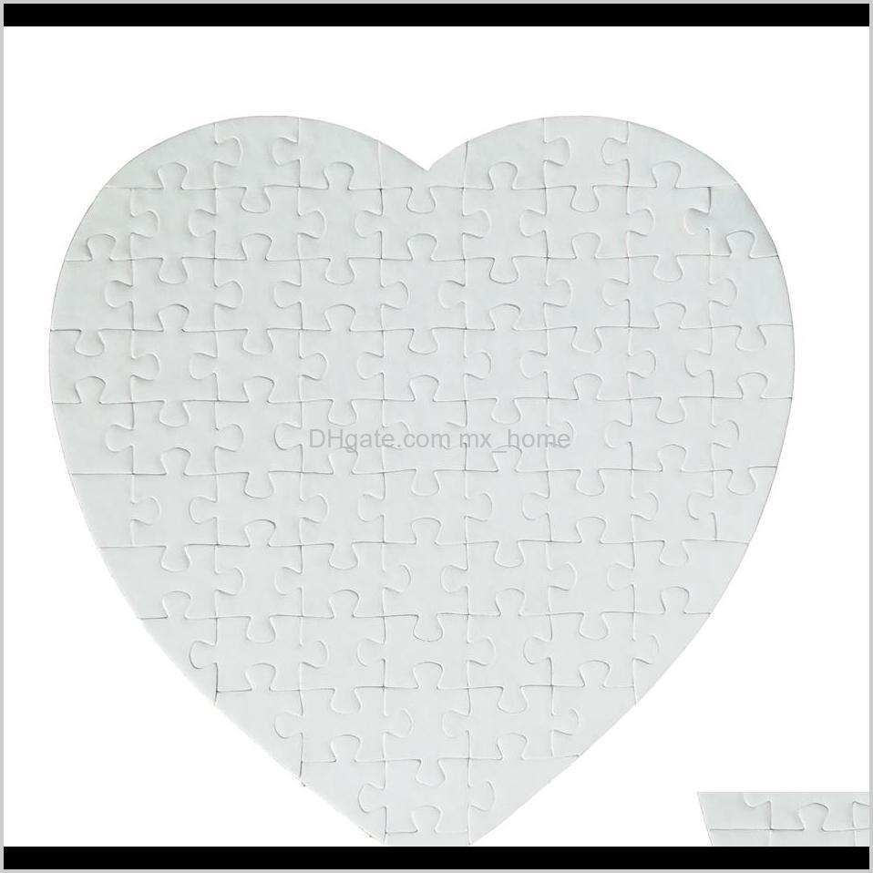 blank heart shaped puzzles 75pieces sublimation blank pearl jigsaw diy puzzle birthday valentine`s day party favor gift seashipping
