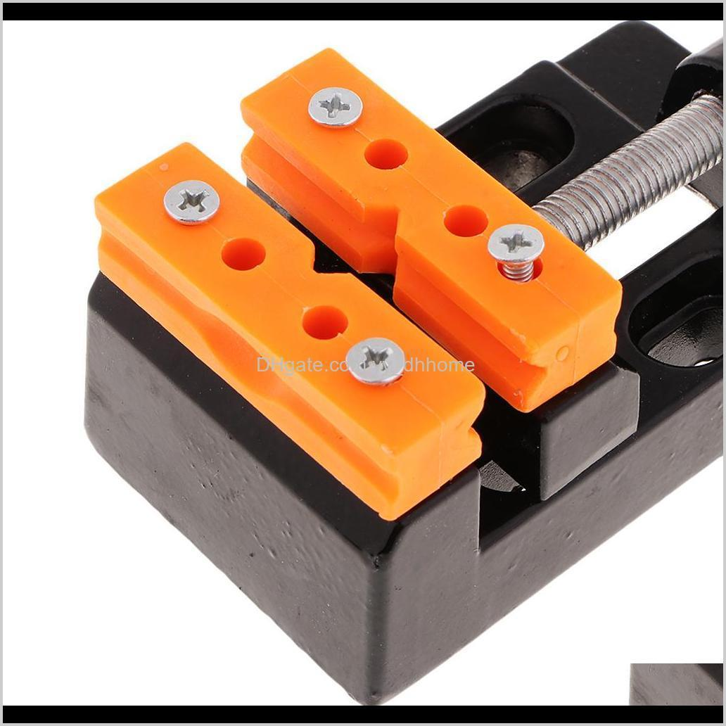 57mm adjustable mini jaw bench clamp drill press vice table vise diy sculpture craft hand tool for jewelry woodworking model making