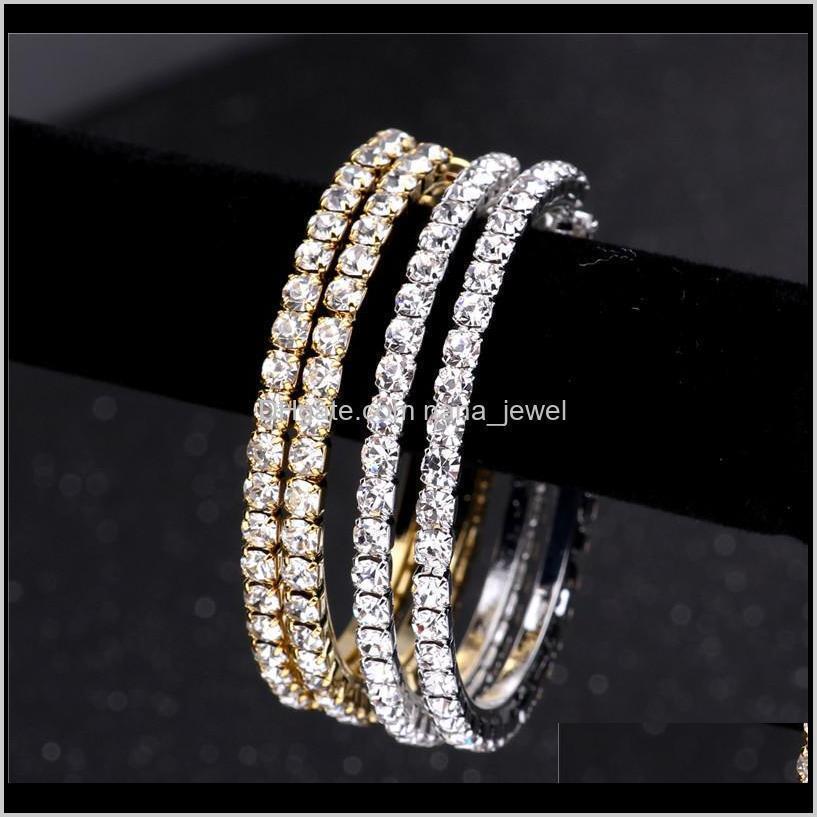 women fashion geometry gold hoop earring circle rhinestone big ear ring girl exaggerated zircon jewelry for wedding night club