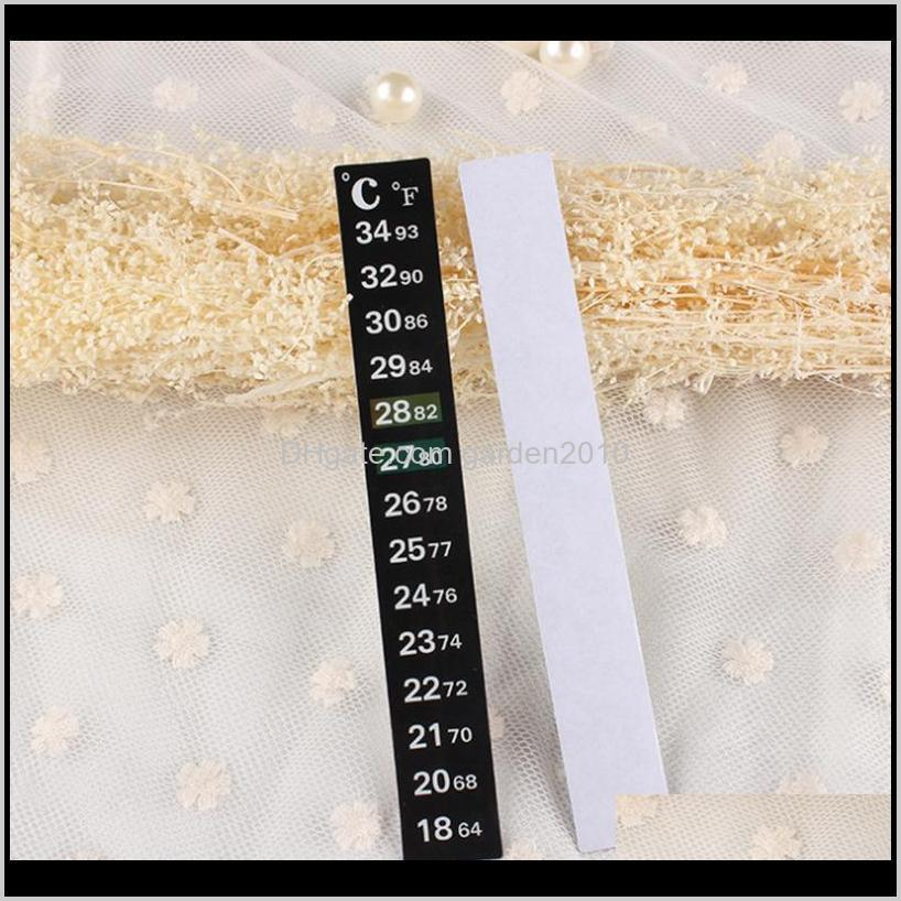 stick on lcd digital thermometer strip thermometer adhesive stick in the aquarium fish tank window