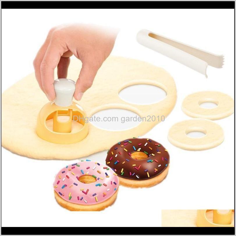 creative diy donut mold cake decorating tools plastic desserts bread cutter maker baking supplies kitchen tool hhf4315