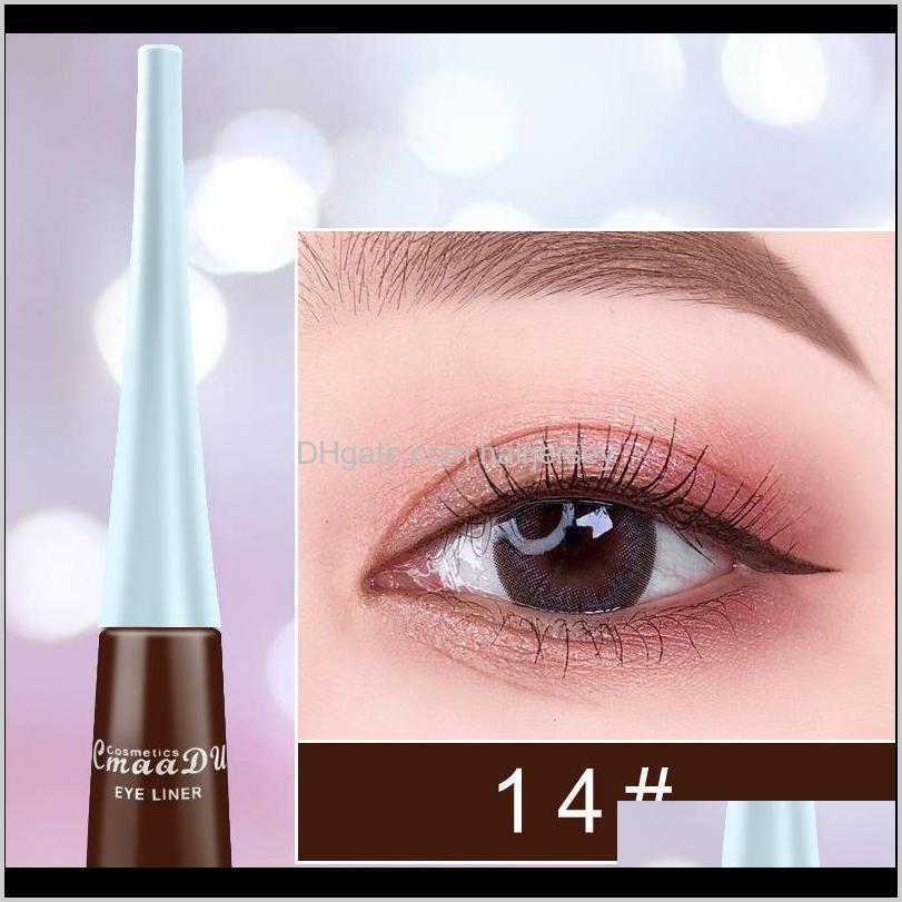 2020 liquid eyeshadow long lasting waterproof liquids eyeliner pencils 17 color liquid shimmer eye liner makeup eyeliner liquid shadow