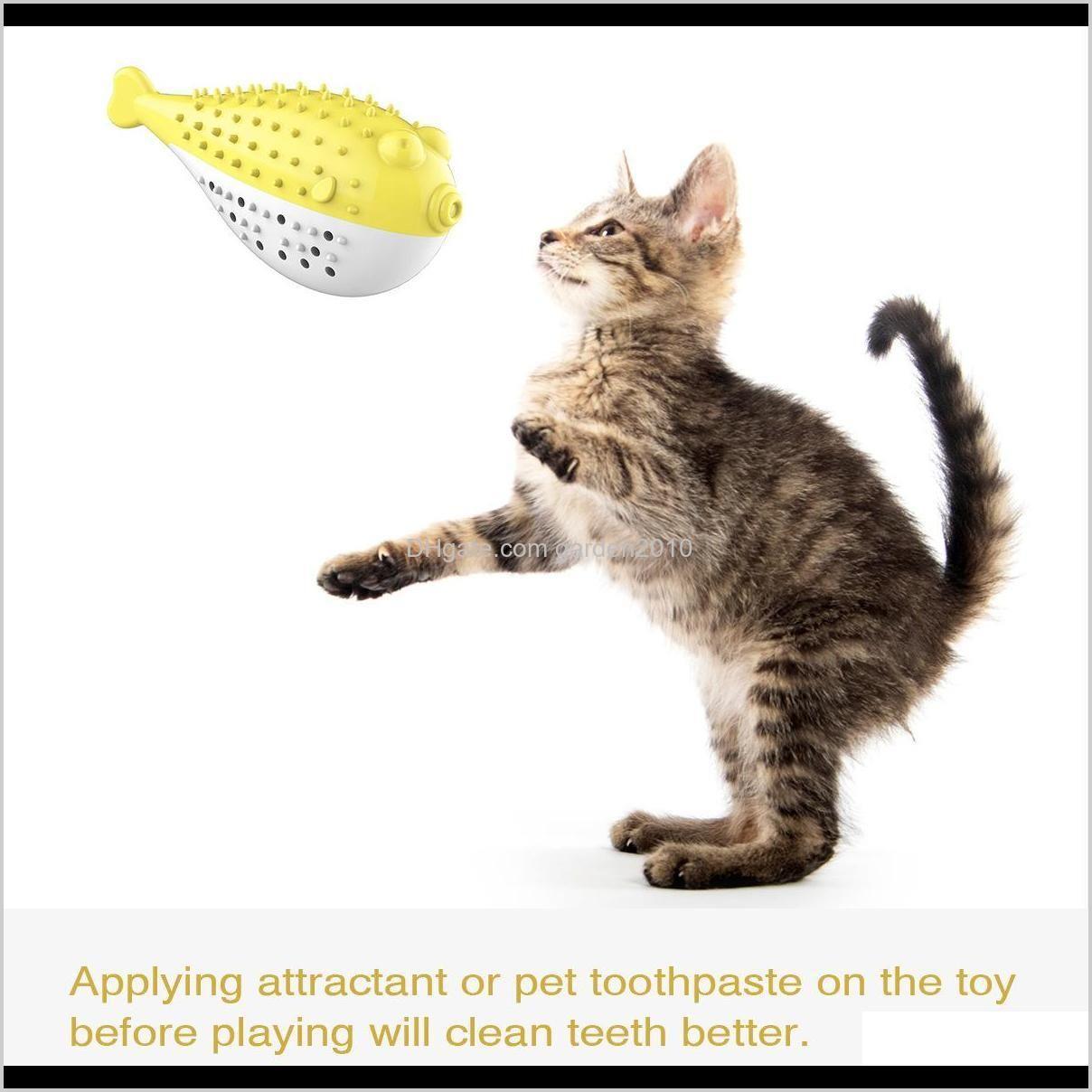 dolphin mint odontoprisis simulation fish catnip cat toys clean teethbrush resistance to bite cat toys & chews dog pet supplies ha291