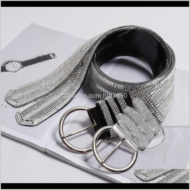 Crystal 20fashion Luxury Full Waist Pvc Crystal Belt Women Female Gem Stones Belts Femme Waistband Dress Belts Straps Accessories