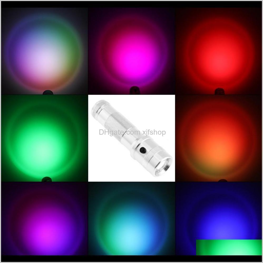 new rainbow colorshine color changing rgb led flashlight 3w aluminium alloy rgb edison led multicolor led rainbow of 10 color torch