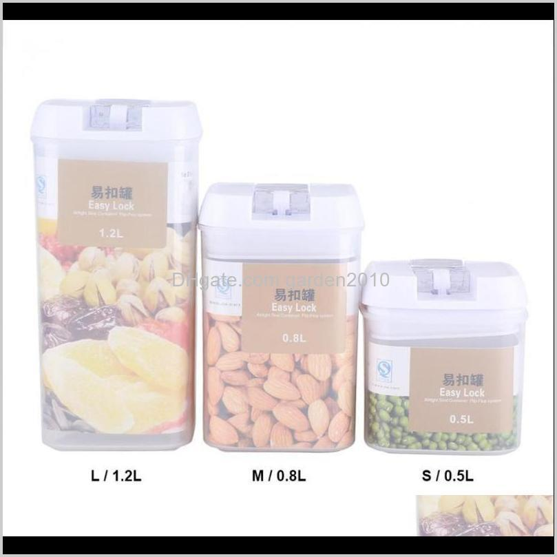 500/800/1200ml kitchen containers storage container sealed storage box for fruit crisper grains nut fridge organizer case1