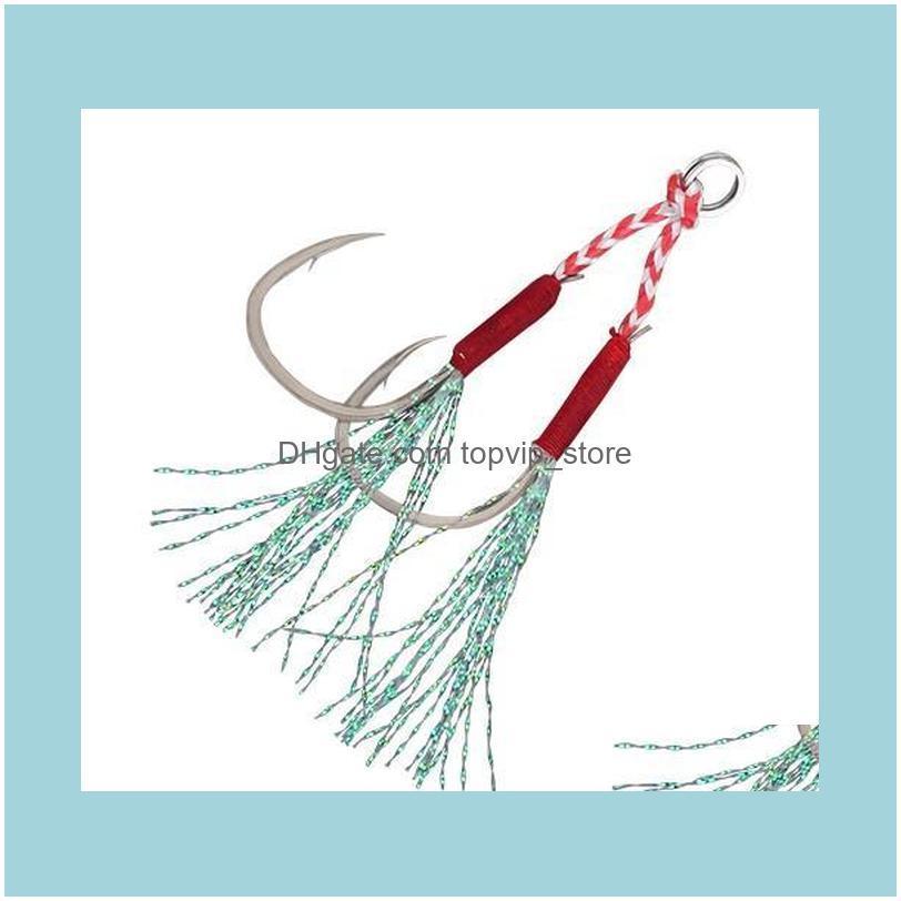 Fishing Hook Cast Jigs Slow Jigging High Carbon Steel Tie Hair Sharp Barbed Fish Lure Hooks