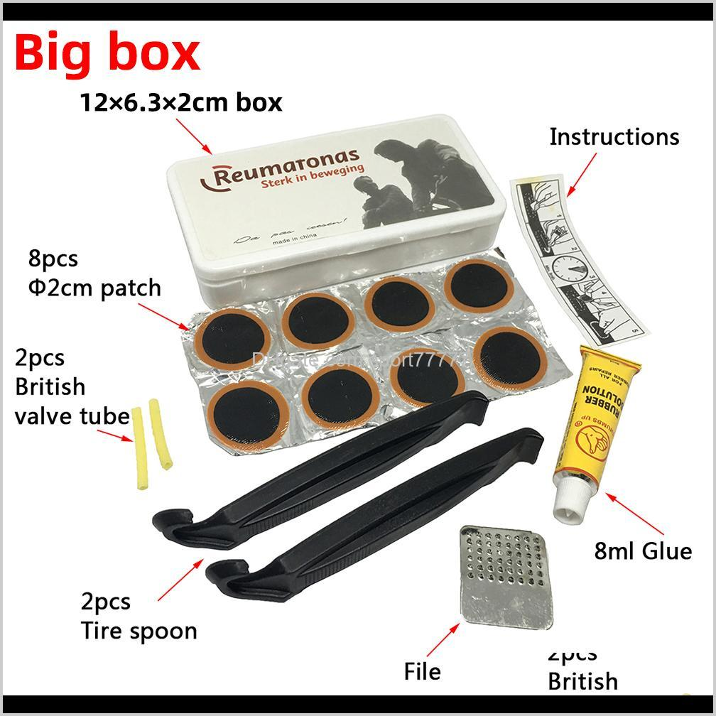 brand bike bicycle flat tire repair kit tool set kit patch rubber portable fetal best quality cycling