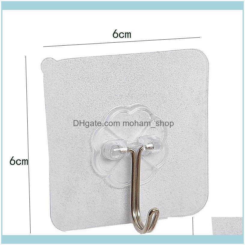 5pcs Strong Sucker Hanger Hook For Key Towel Kitchen Accessories Hanging Powerful Transparent Wall Hanger Hooks
