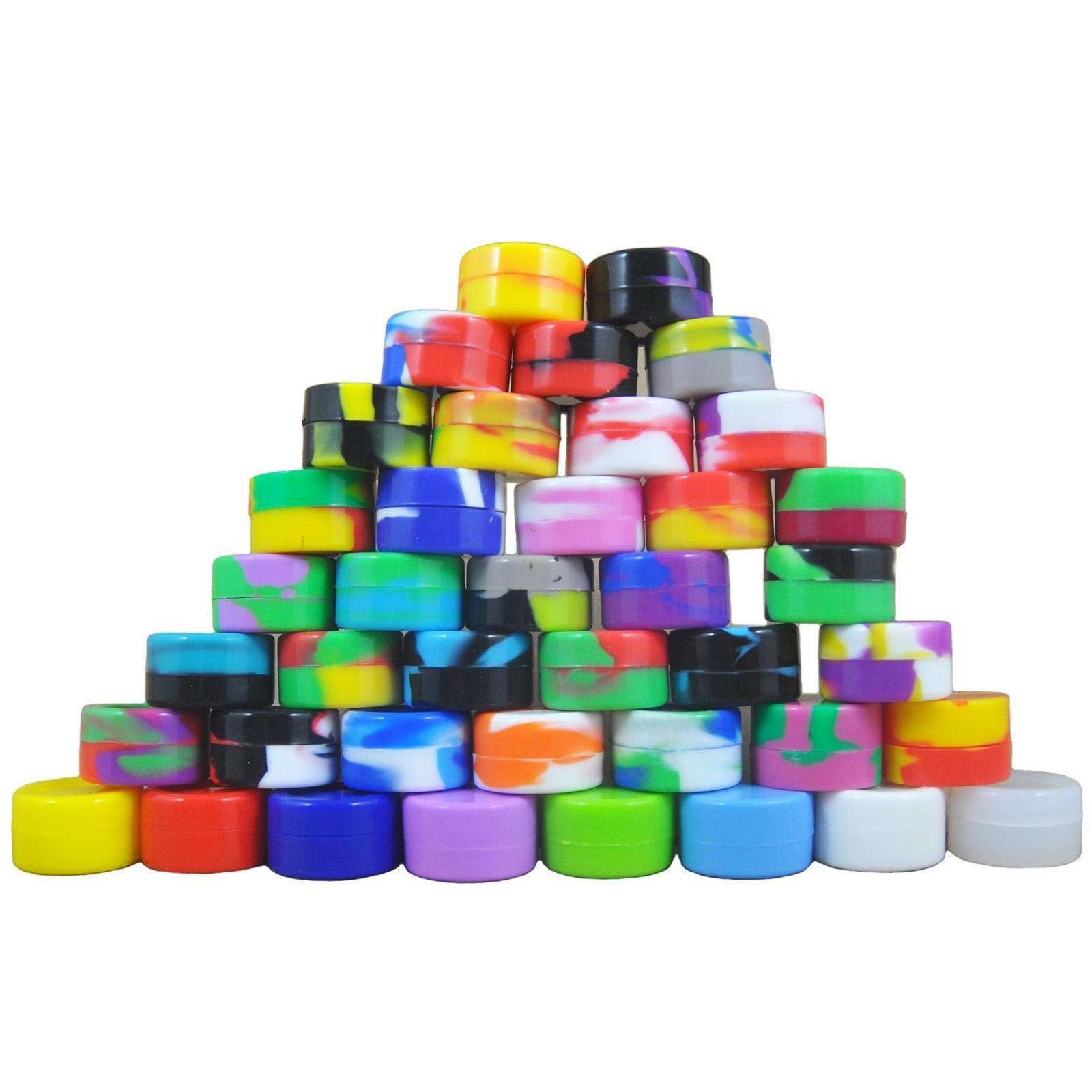 /ups 5 ml non-stick silicone jar dab wax 5 ml containers non-solid colors silicone jars concentrate case dabs silicone storage