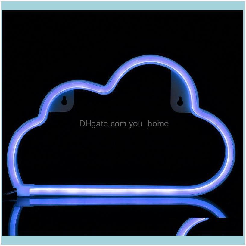 Party Decoration 1PCS LED Cloud Neon Light Sign Night Lamp Wall Art Decorative Room Decor Wedding Home