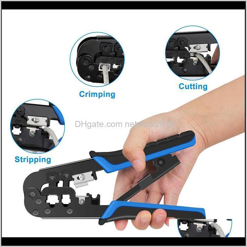 network cable tester tool punch tool 15-piece lan cable tester for rj11, rj45 crimper set network cable crimping pliers tools kit