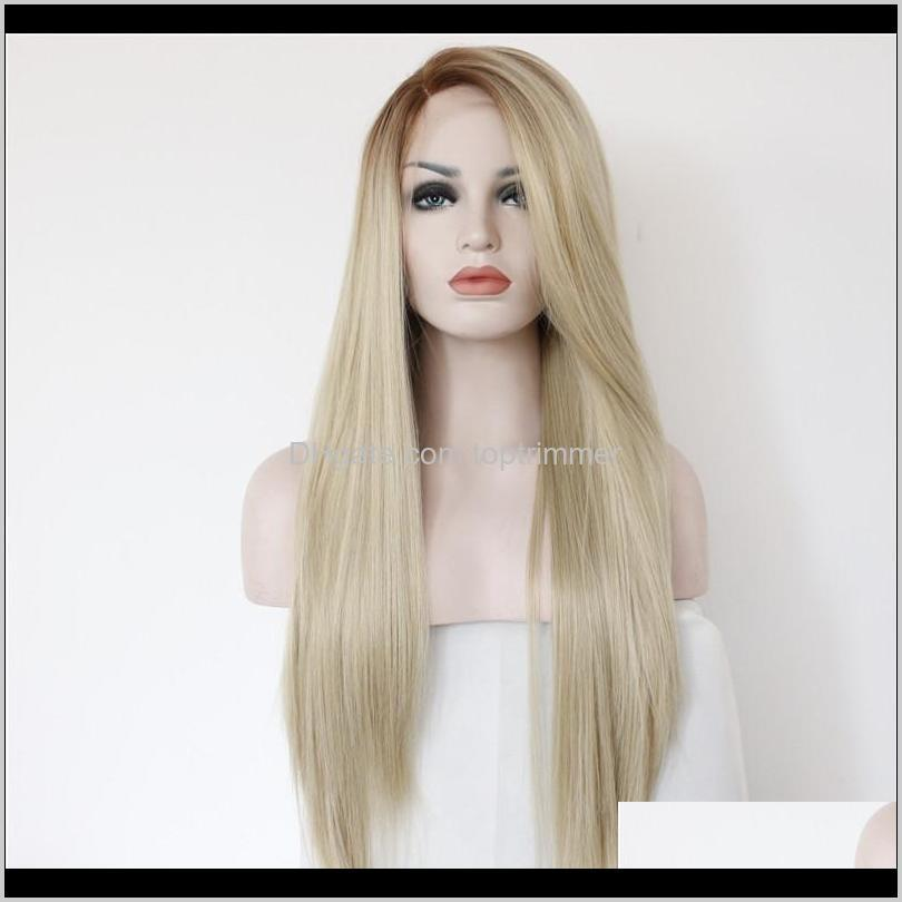 z&f synthetic lace front wigs blonde human hair wigs 26inch synthetic high grade black and european style straight wig