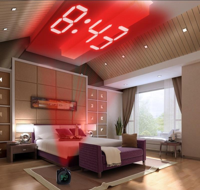 projection alarm clock with led lamp digital voice talking function led wall ceiling projection alarm snooze temperature display