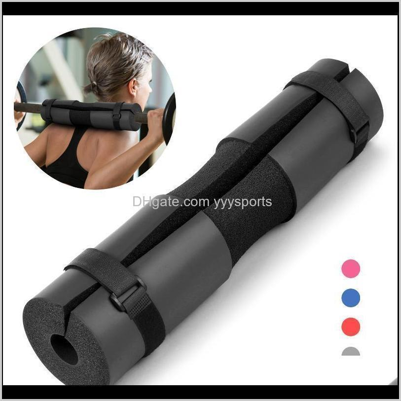 weight lifting neck shoulder protective pad bar barbell squat support with fixing straps for squats lunges hip thrusts accessories
